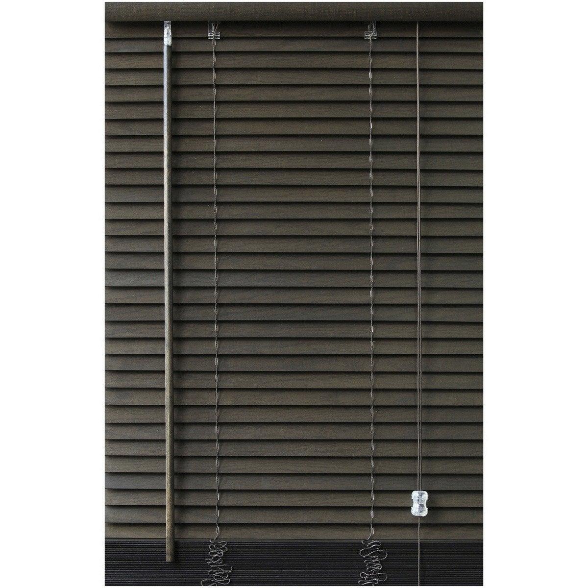 Store v nitien bois weng x cm leroy merlin for Store interieur bois