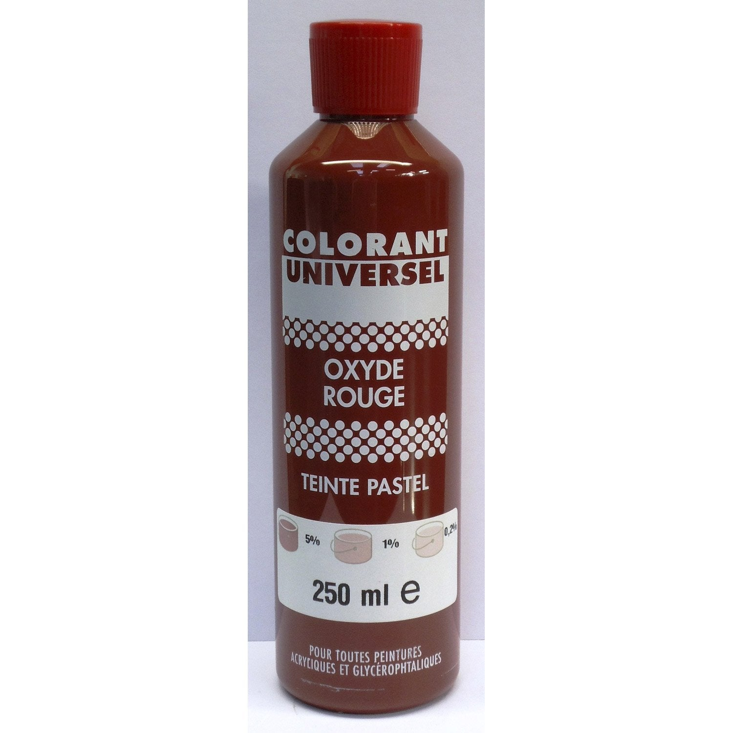 colorant universel oxyde rouge 250 ml leroy merlin - Peinture Colorant
