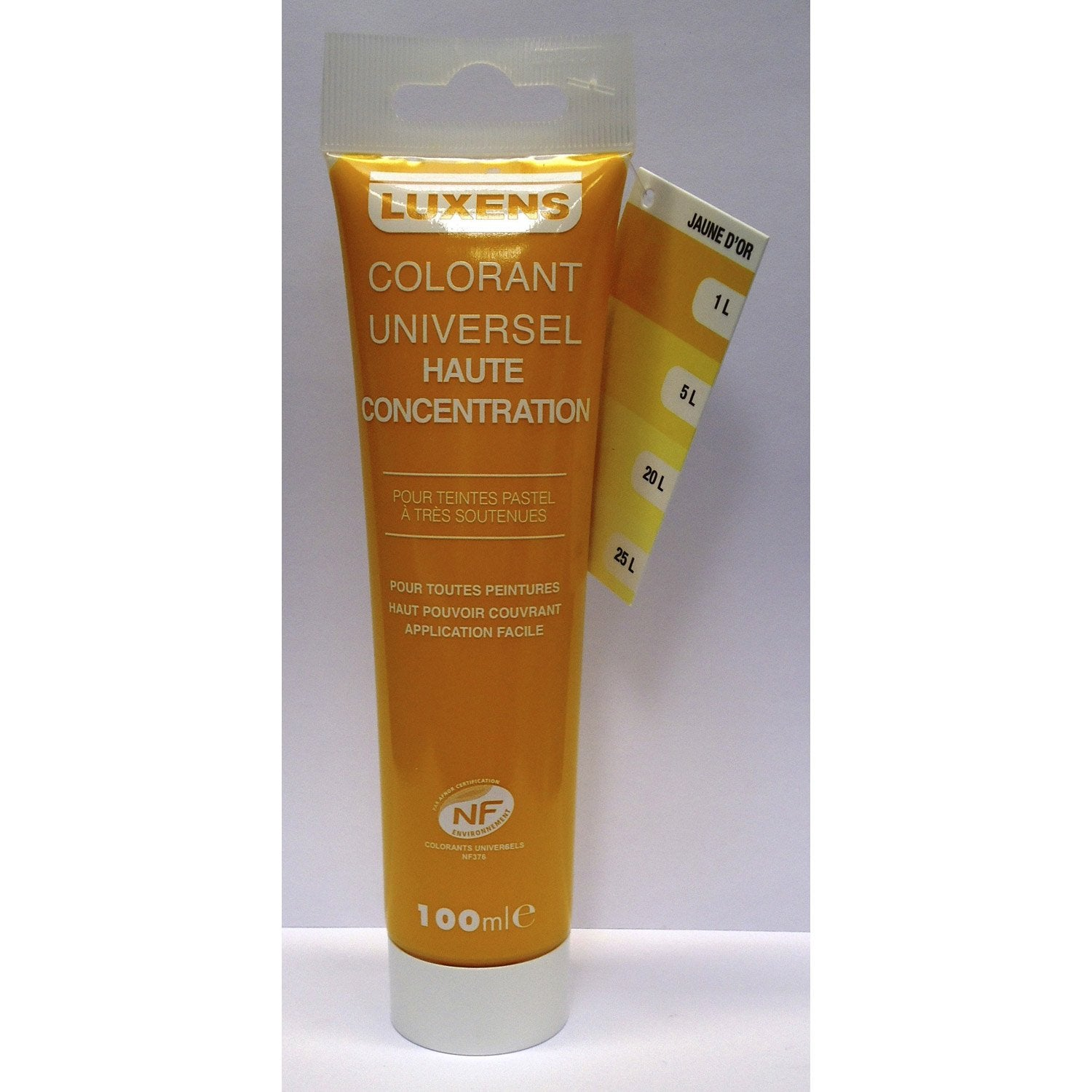 colorant concentr jaune d or 100 ml luxens leroy merlin. Black Bedroom Furniture Sets. Home Design Ideas