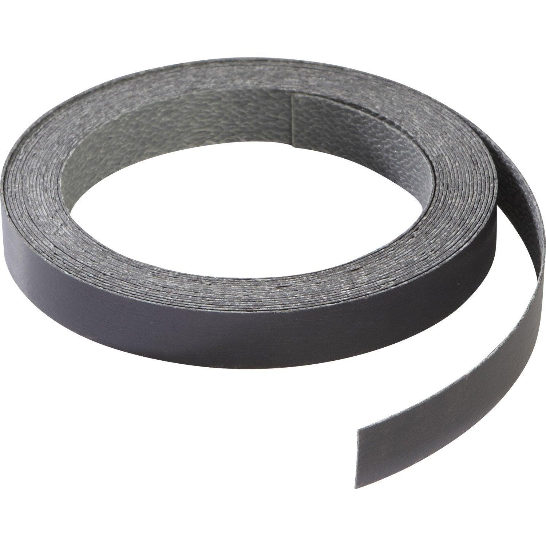 chant de cr dence stratifi gris effet m tal x l 1 3 cm leroy merlin. Black Bedroom Furniture Sets. Home Design Ideas