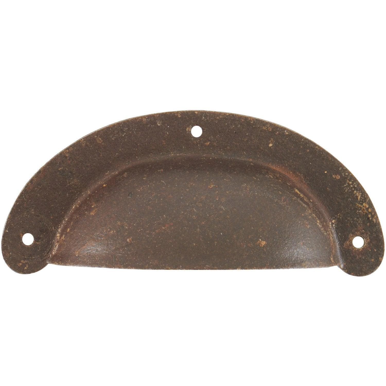 Poign e de meuble coquille acier mat entraxe 70 mm leroy merlin - Leroy merlin poignee meuble ...