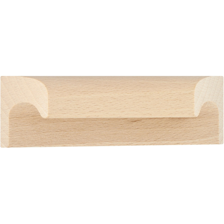 Applique Bois Leroy Merlin : Poign?e de meuble Applique bois brut, entraxe 64 mm Leroy Merlin