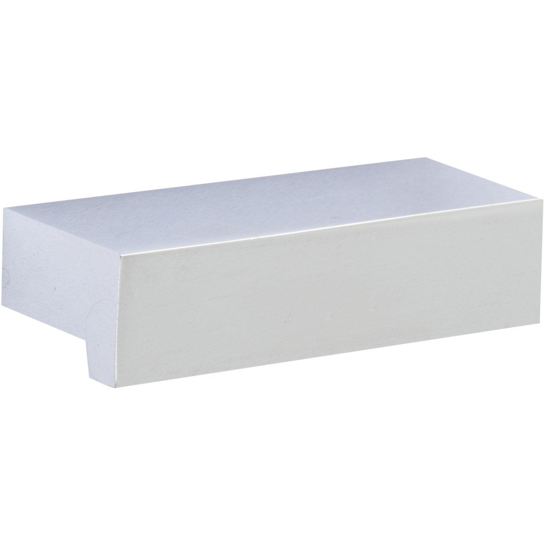 Poign e de meuble adhesif aluminium brillant entraxe 32 mm leroy merlin - Adhesif leroy merlin ...