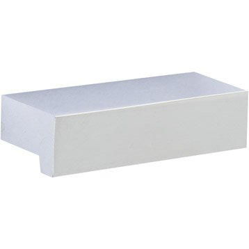 poign e de meuble en aluminium brillant adh sif entraxe 32 mm leroy merlin. Black Bedroom Furniture Sets. Home Design Ideas