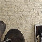 Plaquette de parement plâtre blanc Mercurey
