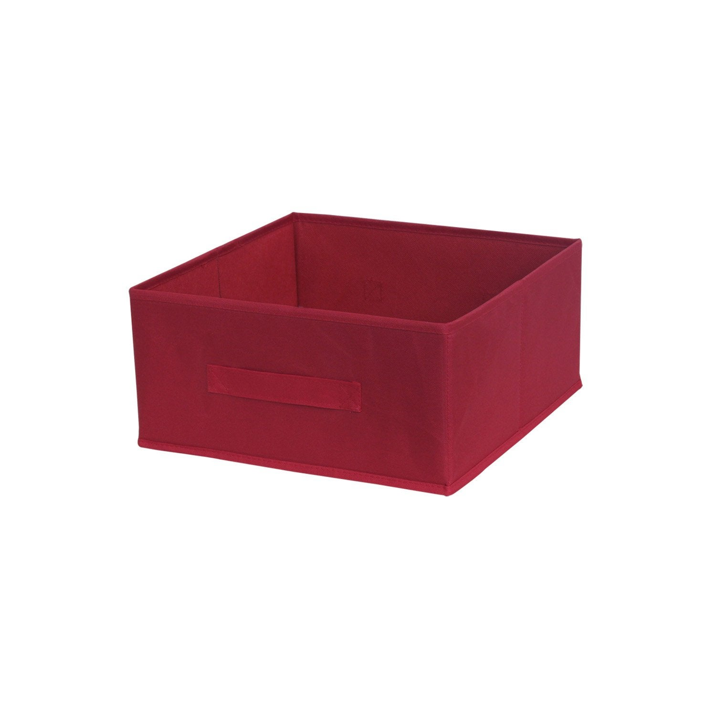 Panier de rangement polyester multikaz rouge rouge n 3 - Leroy merlin panier rangement ...