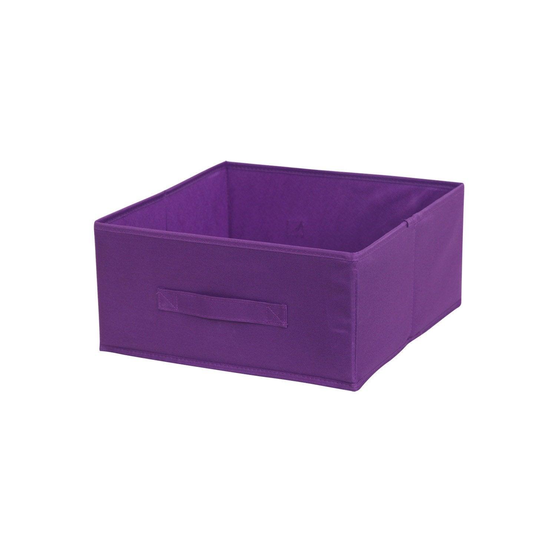 Panier de rangement multikaz violet x x cm - Panier rangement leroy merlin ...