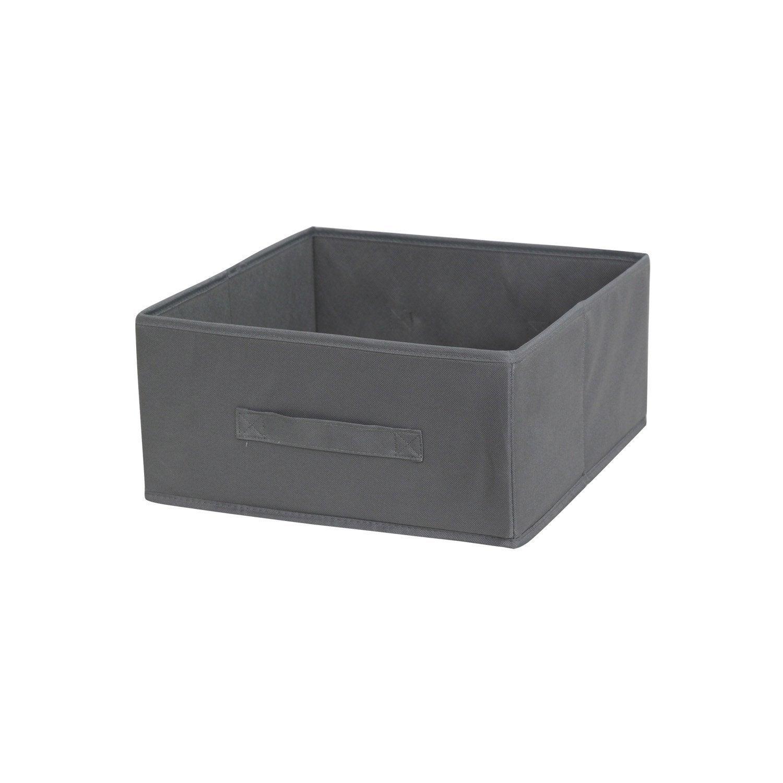 panier de rangement multikaz gris x x cm leroy merlin. Black Bedroom Furniture Sets. Home Design Ideas