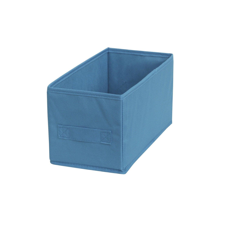 Panier de rangement multikaz bleu x x cm leroy merlin for Cuisine bleu turquoise leroy merlin
