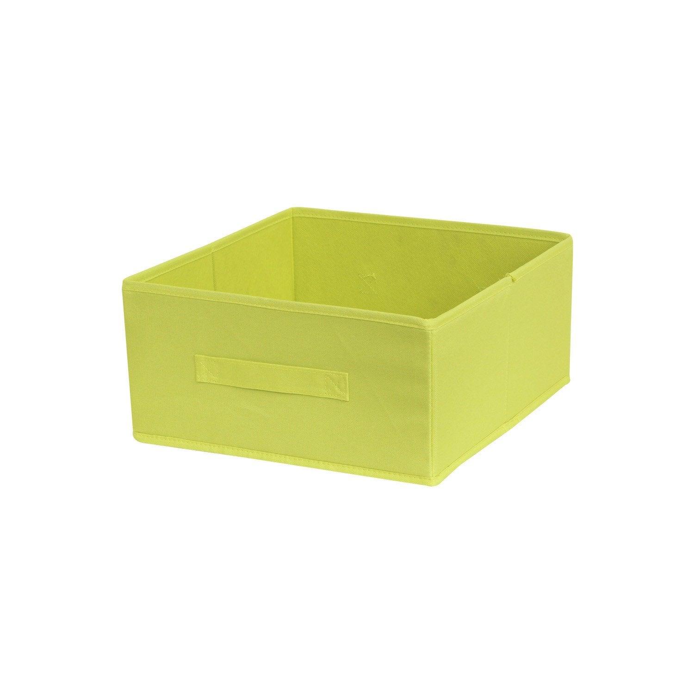 Panier de rangement multikaz vert x x cm - Leroy merlin panier rangement ...