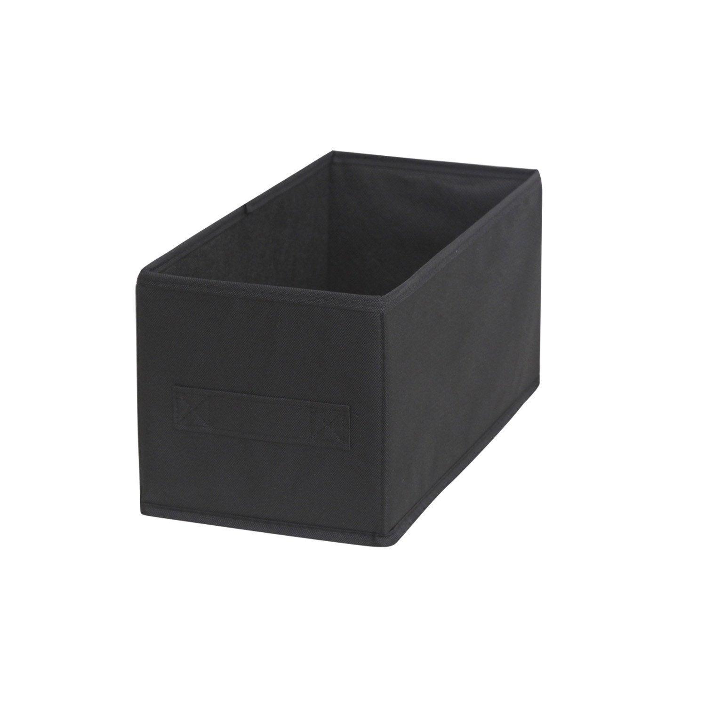 panier de rangement multikaz noir x x cm leroy merlin. Black Bedroom Furniture Sets. Home Design Ideas