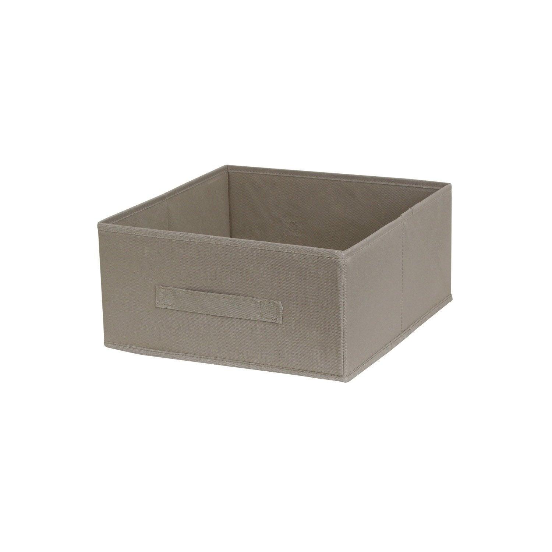 panier de rangement multikaz cru x x cm leroy merlin. Black Bedroom Furniture Sets. Home Design Ideas