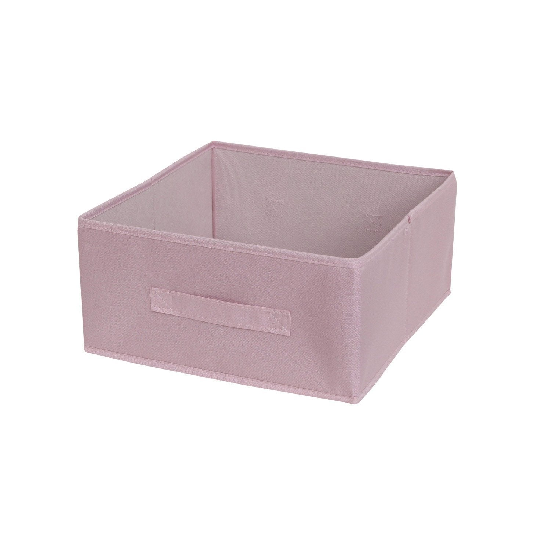 panier de rangement polyester multikaz rose shocking n 6 l31xh15xp31. Black Bedroom Furniture Sets. Home Design Ideas