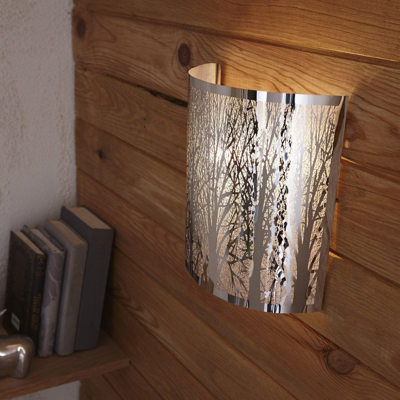 applique design e14 forest metal chrome 1 inspire Résultat Supérieur 15 Nouveau Applique Plafond Leroy Merlin Photos 2018 Phe2