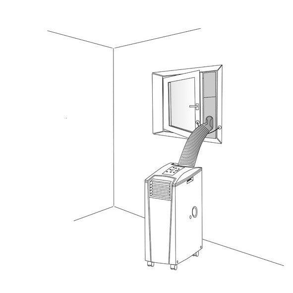 Calfeutrage fenetre pour climatiseur transform suntec for Calfeutrage fenetre climatisation mobile