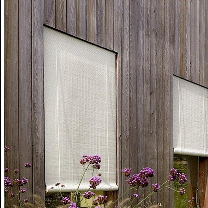 store enrouleur tamisant bois tiss brun 80 90 x 180 cm. Black Bedroom Furniture Sets. Home Design Ideas