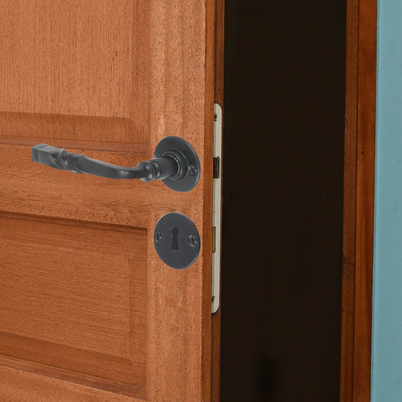 2 poign es sur rosace bourgogne inspire fer poxy n a. Black Bedroom Furniture Sets. Home Design Ideas