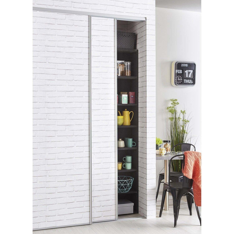 structure rails laqu aluminium x cm leroy merlin. Black Bedroom Furniture Sets. Home Design Ideas
