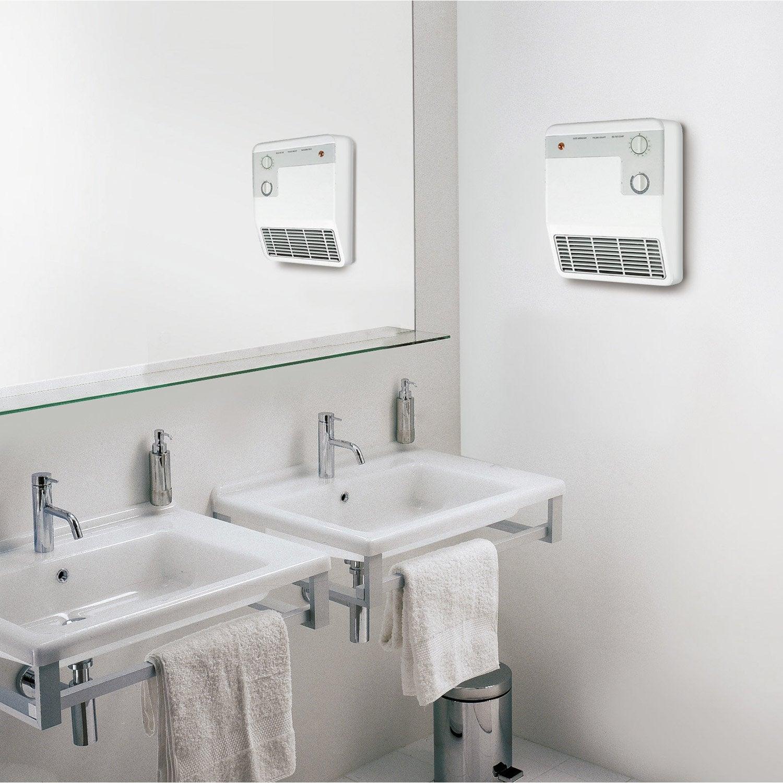 Radiateur soufflant salle de bain fixe lectrique aurora for Radiateur salle de bain leroy merlin