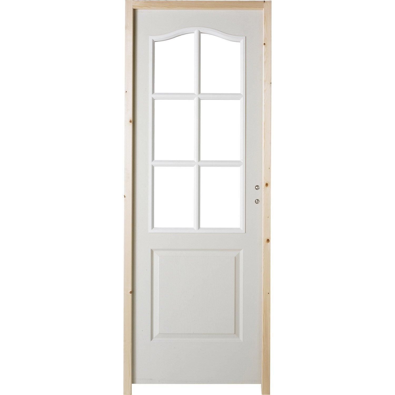Bloc porte postform postform x cm poussant for Porte coulissante 93 cm