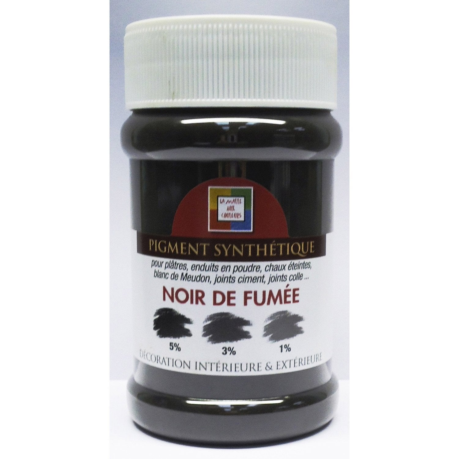 pigment poudre malle aux couleurs noir de fum e 250 ml leroy merlin. Black Bedroom Furniture Sets. Home Design Ideas