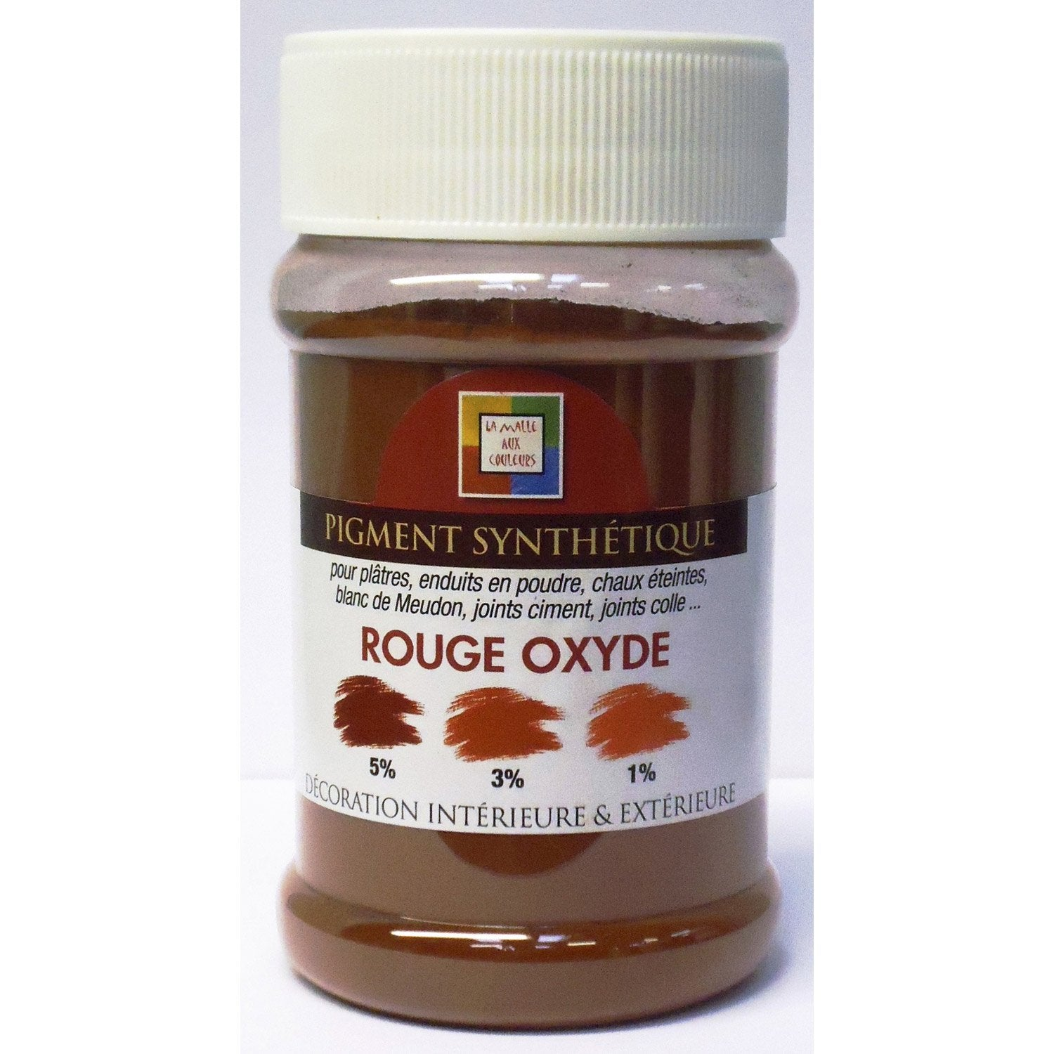 pigment poudre malle aux couleurs rouge oxyd 250 ml leroy merlin. Black Bedroom Furniture Sets. Home Design Ideas