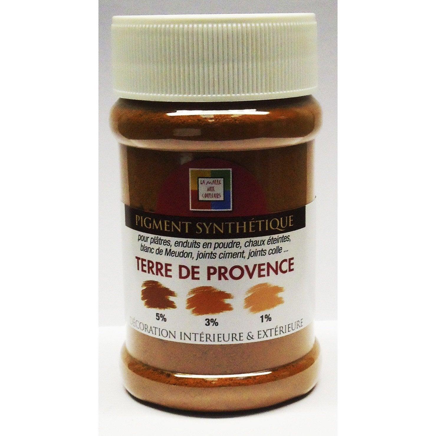 Pigment poudre malle aux couleurs terre de provence 250 ml - Bassin fontaine leroy merlin aixen provence ...