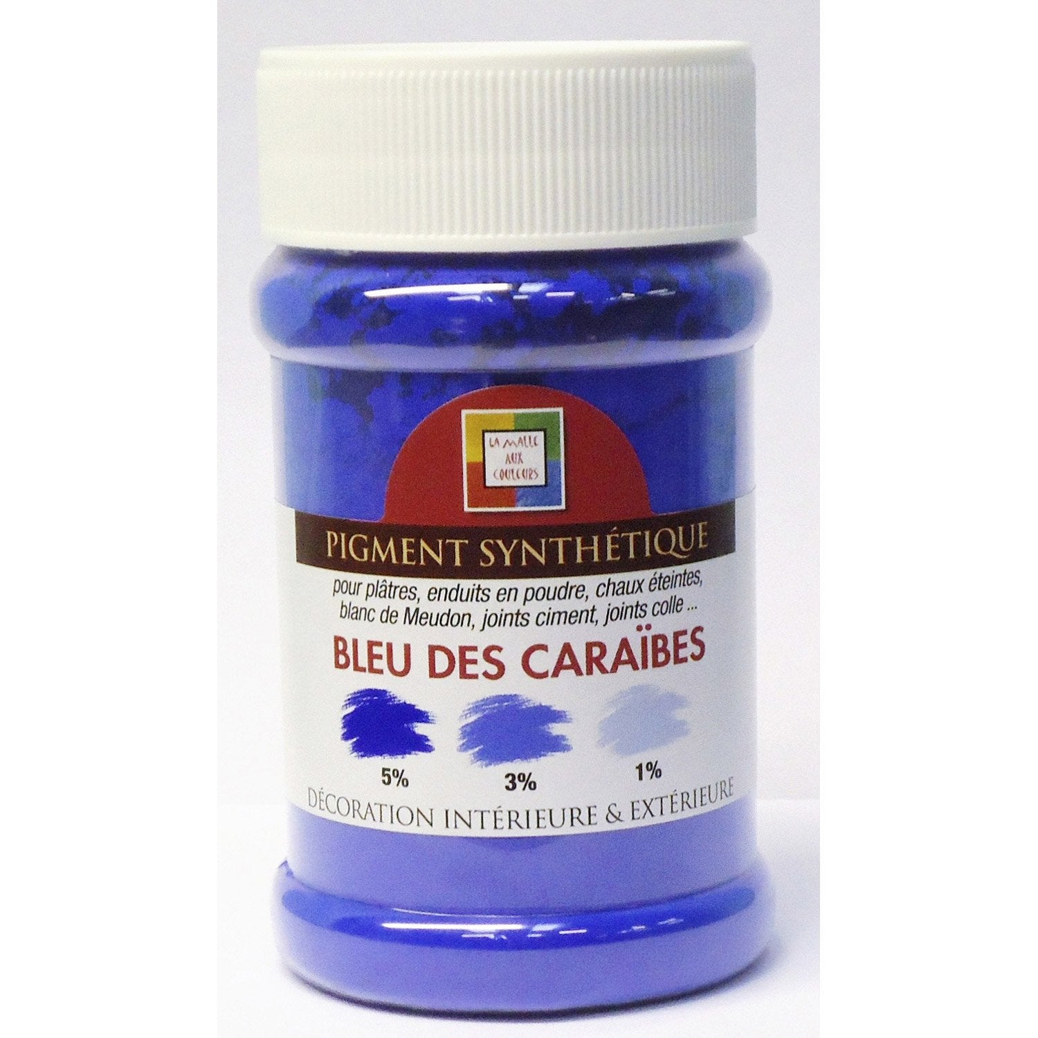pigment poudre malle aux couleurs bleu des cara bes 250 ml leroy merlin. Black Bedroom Furniture Sets. Home Design Ideas