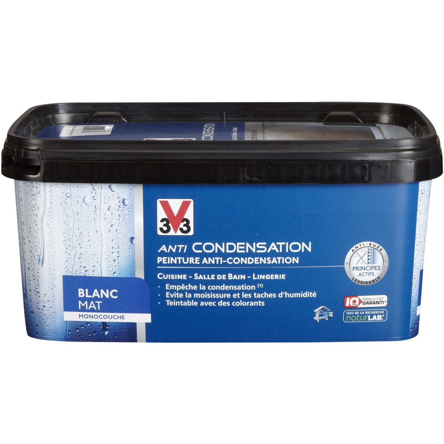 Peinture anticondensation v33 blanc 2 5 l leroy merlin for Peinture anti condensation