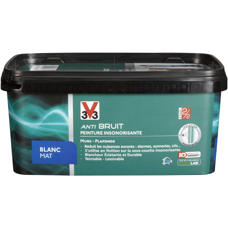 Peinture phonique v33 blanc 2 5l leroy merlin - Peinture isolante phonique ...
