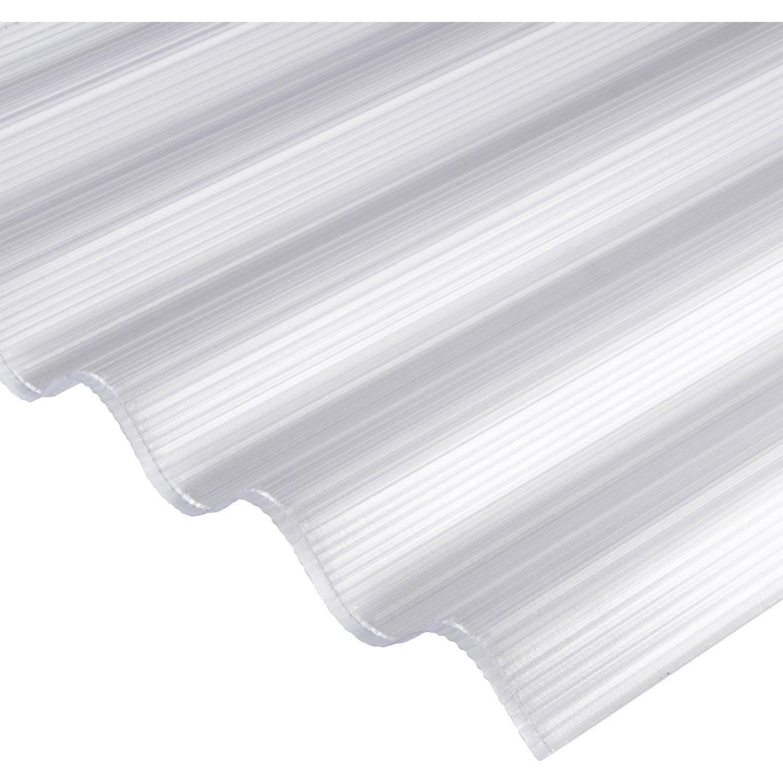 Plaque polycarbonate alv olaire 6mm clair x for Plaque plexi leroy merlin