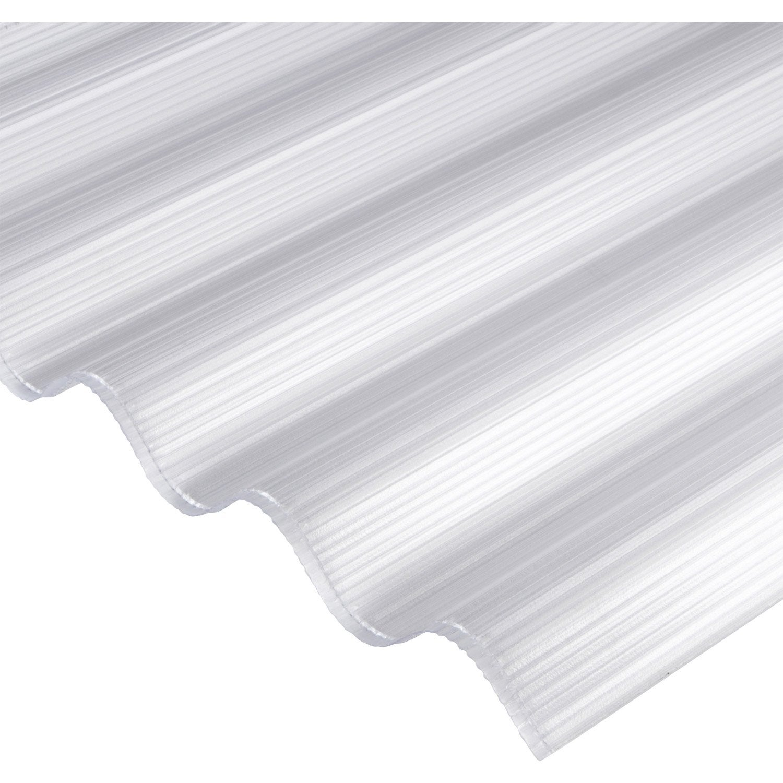 Plaque polycarbonate alv olaire 6mm clair x sunclear leroy me - Tole ondulee plastique leroy merlin ...