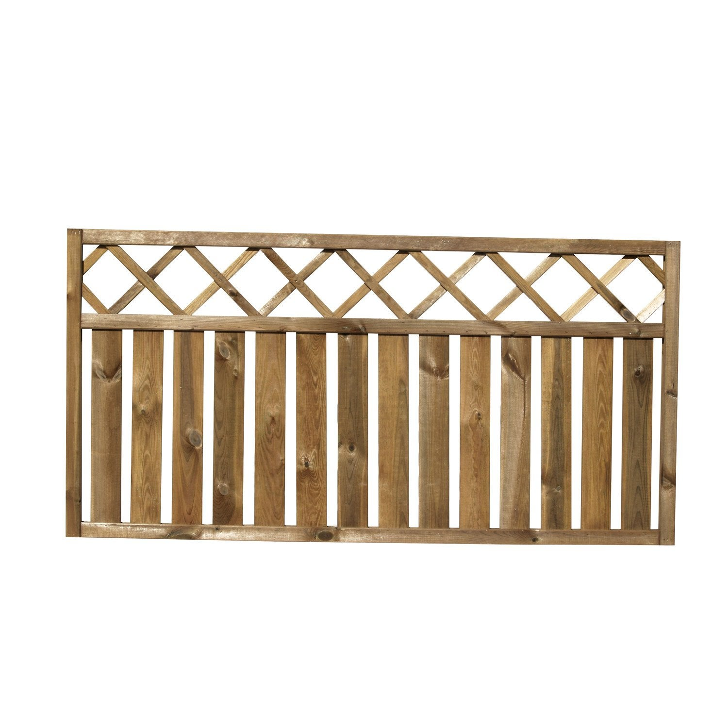 Barri re bois pinto naturel x cm leroy merlin for Barriere de jardin en bois
