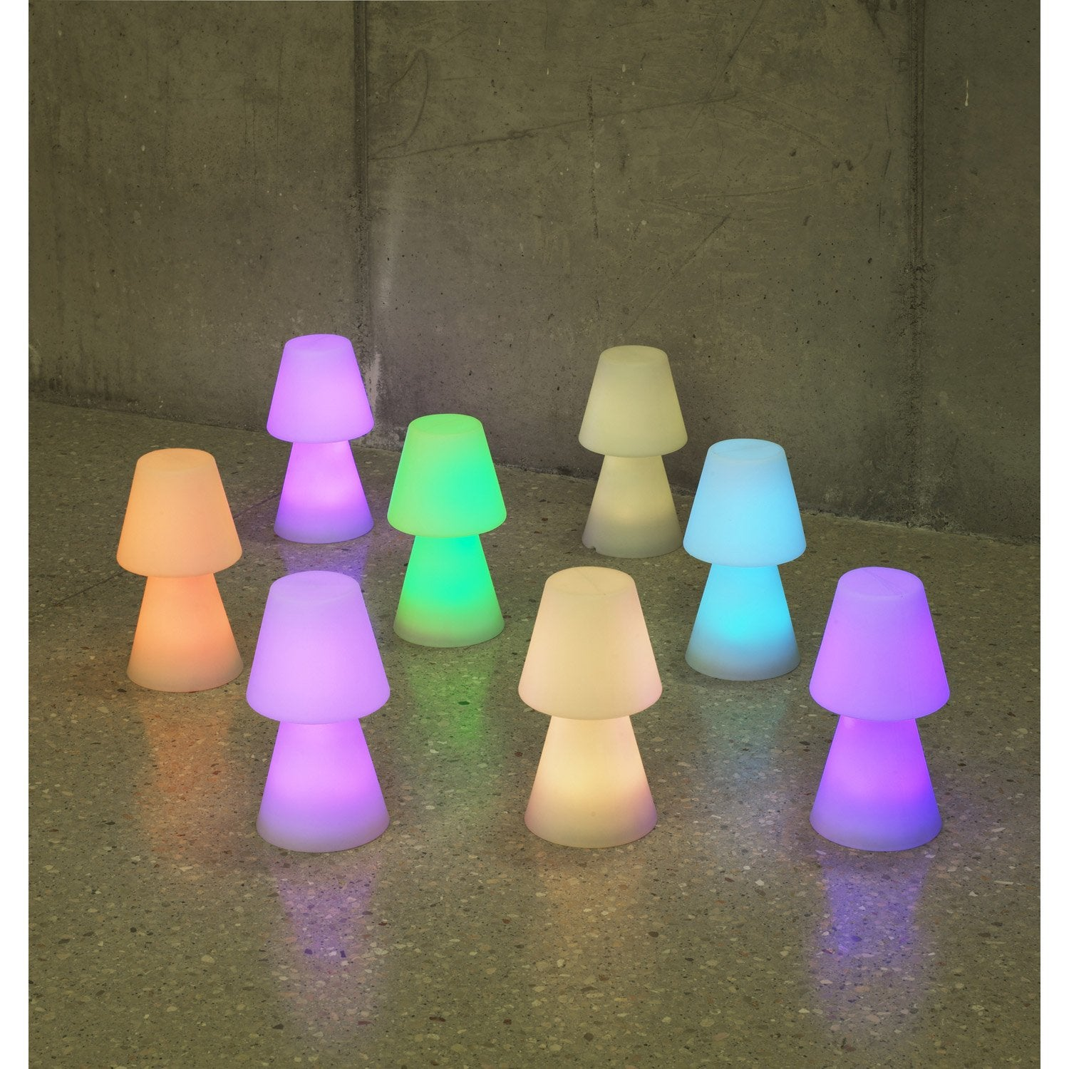Lampe de table ext rieure lola 30 cm led int gr e couleurs - Palette de couleur leroy merlin ...
