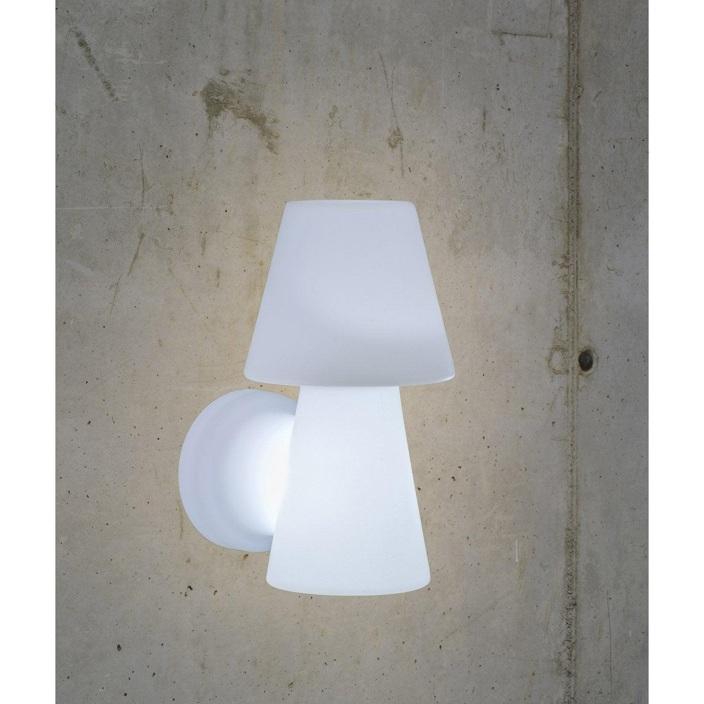 applique ext rieure lola e27 25 w blanc newgarden leroy merlin. Black Bedroom Furniture Sets. Home Design Ideas