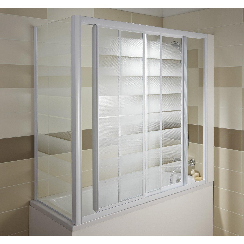 pare baignoire int gral verre de s curit 3 mm s rigraphi europa4 leroy merlin. Black Bedroom Furniture Sets. Home Design Ideas