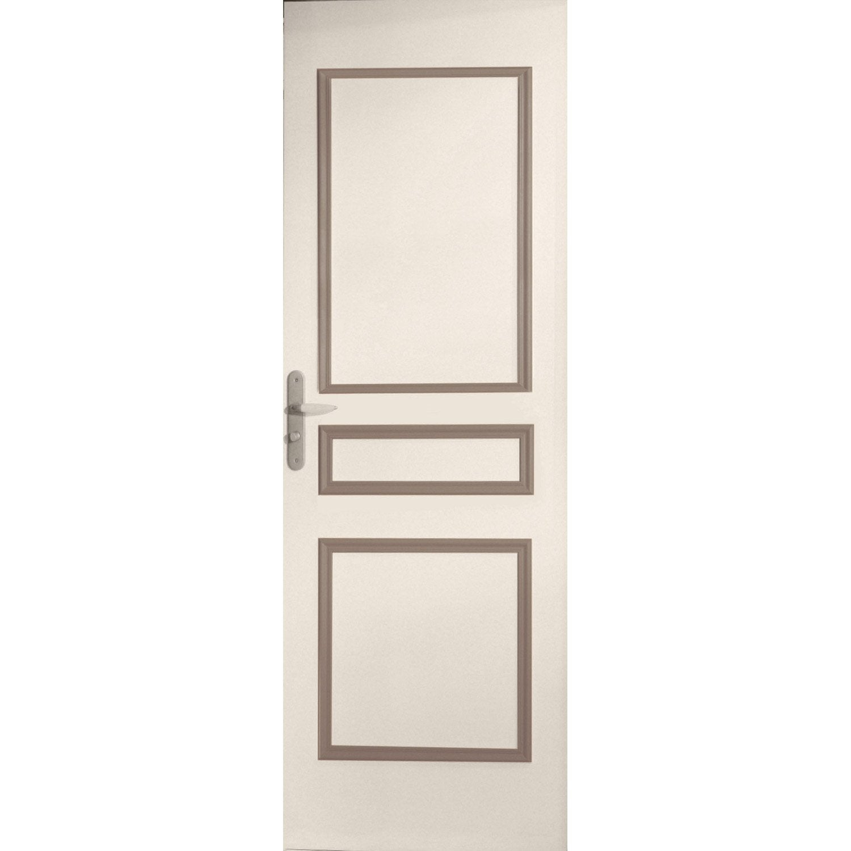 D cor de porte de 3 panneaux assembl s traverse droite bois leroy merlin - Panneaux de bois leroy merlin ...