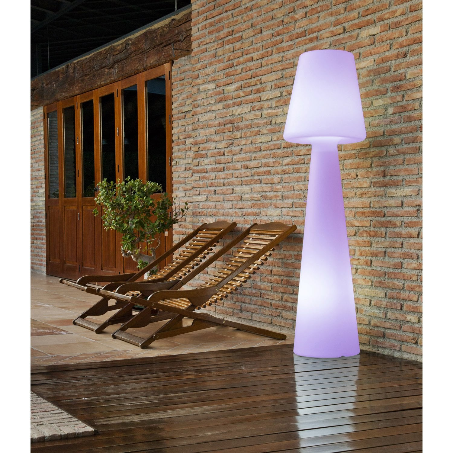 Lampadaire 165 cm led int gr e 2 5 w 165 lm couleurs for Lampadaire exterieur design