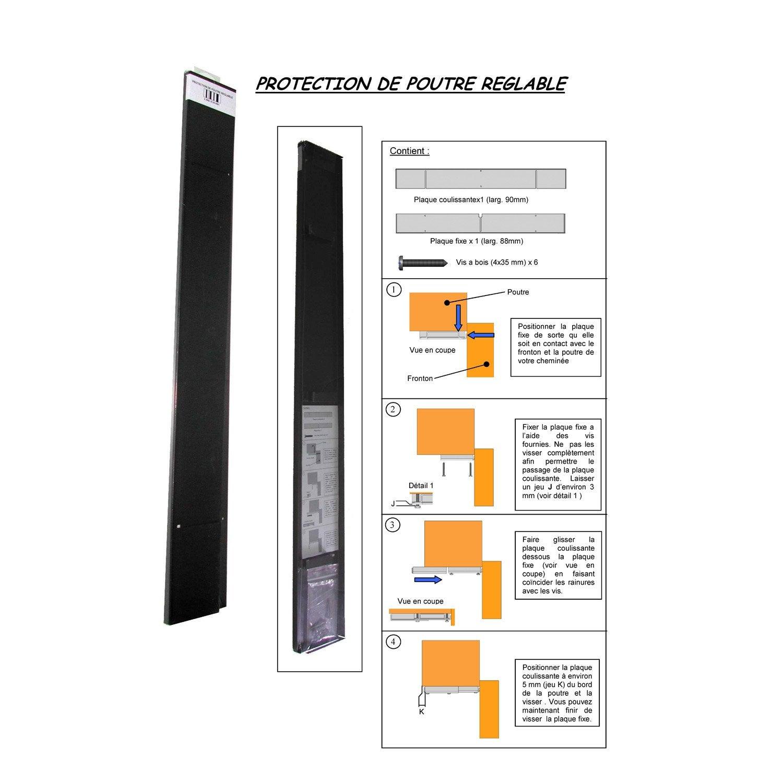 kit de protection poutre pour insert 80 cm leroy merlin. Black Bedroom Furniture Sets. Home Design Ideas