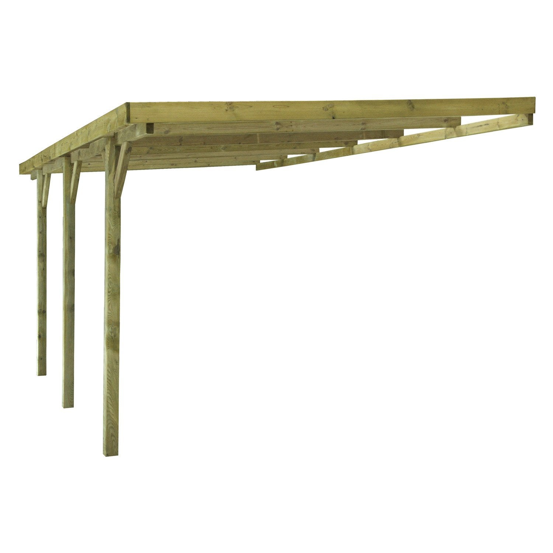 Carport en bois GUS, 14 88 m u00b2 Leroy Merlin # Carport Bois En Kit