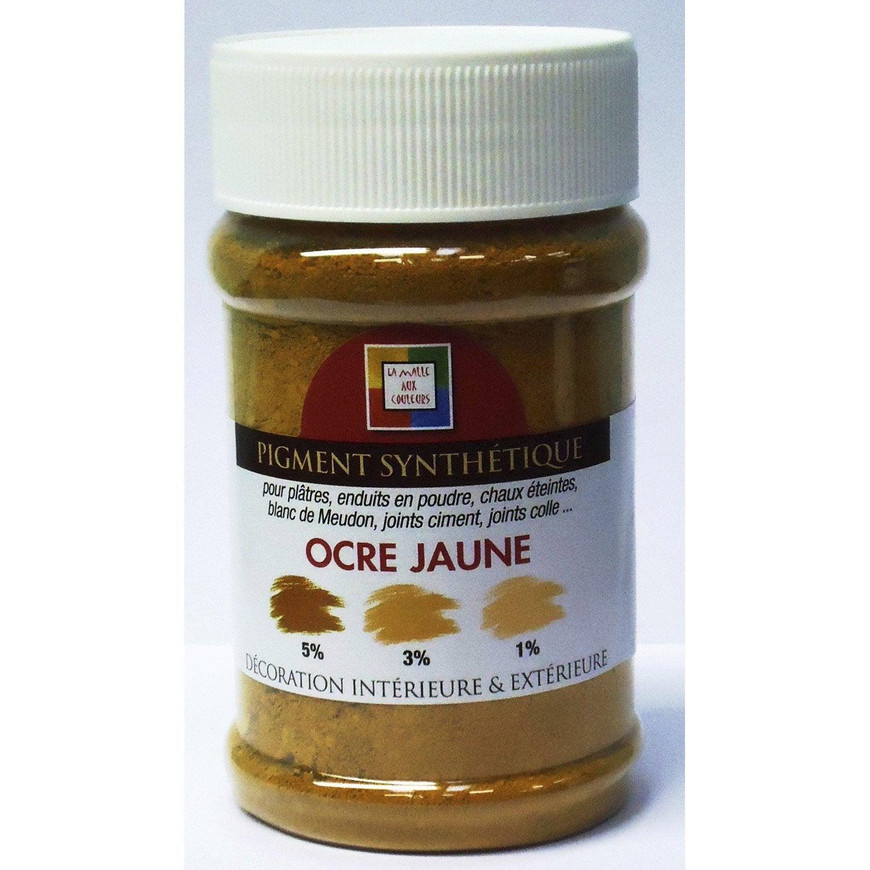 Pigment poudre malle aux couleurs ocre jaune 250 ml leroy merlin - Couleur ocre jaune ...