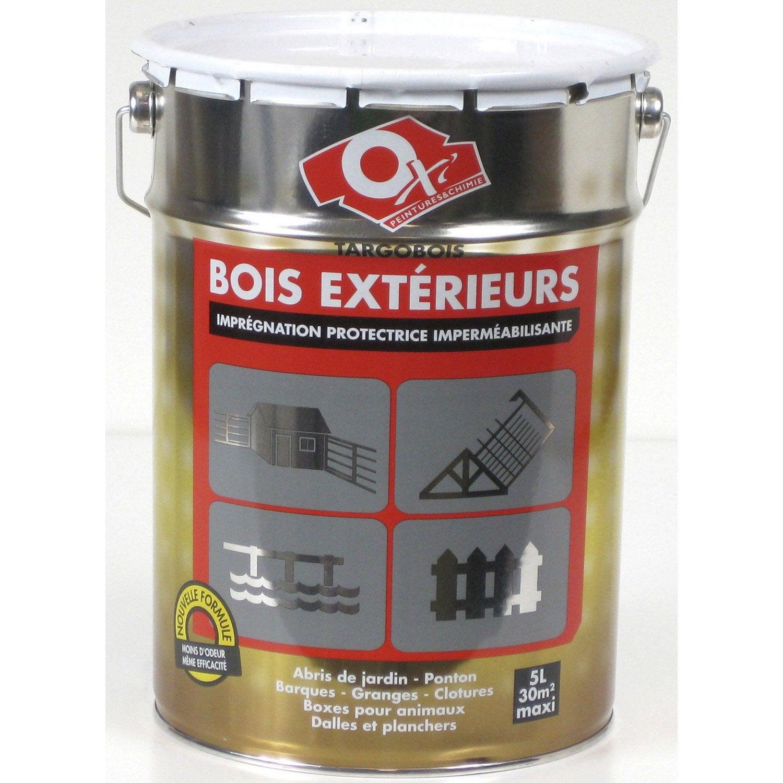 Traitement bois ext rieur oxytol targobois ans 5 l for Traitement travertin exterieur