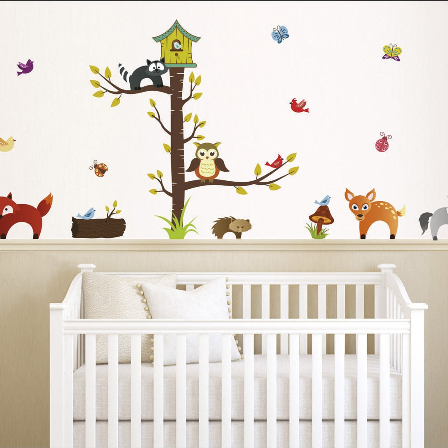 sticker forrest animals 50 cm x 70 cm leroy merlin. Black Bedroom Furniture Sets. Home Design Ideas