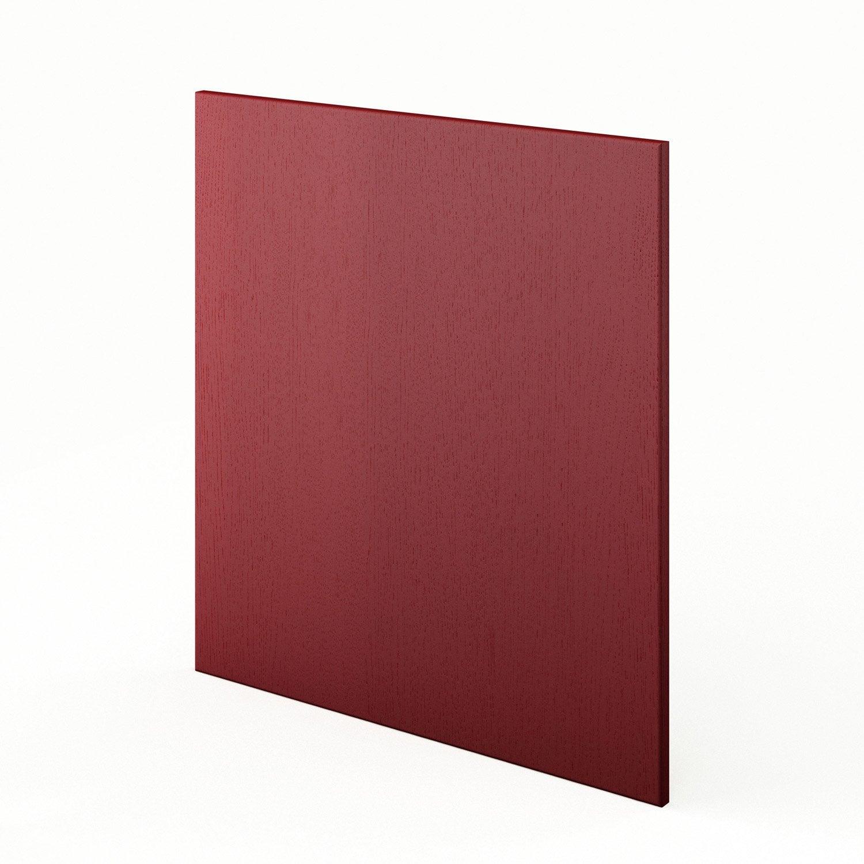 Cuisine Vintage Blanche Kidkraft 53208 : Joue meuble bas de cuisine rouge L65 Rubis, L65 X H70 cm  Leroy
