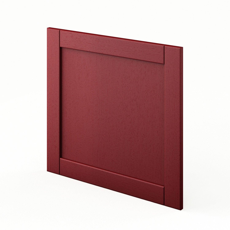 porte pour lave vaisselle int grable de cuisine rouge fdsh60 rubis l60 x h55 cm leroy merlin. Black Bedroom Furniture Sets. Home Design Ideas