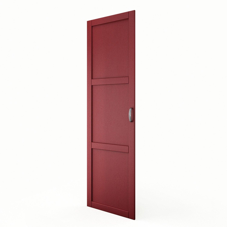 Porte colonne de cuisine rouge f60 200 rubis l60 x h200 for Porte 60 x 200