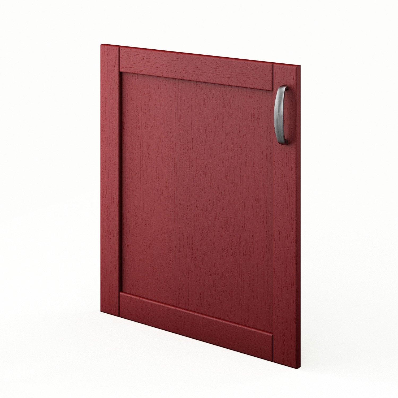 Porte de cuisine rouge f60 rubis l60 x h70 cm leroy merlin for Porte 60 cm cuisine