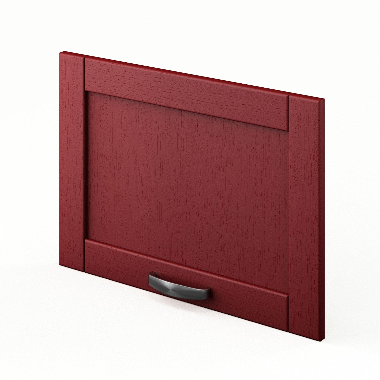 Cuisine Vintage Blanche Kidkraft 53208 : Porte sur hotte de cuisine rouge F6042 Rubis, L60 X H42 cm  Leroy