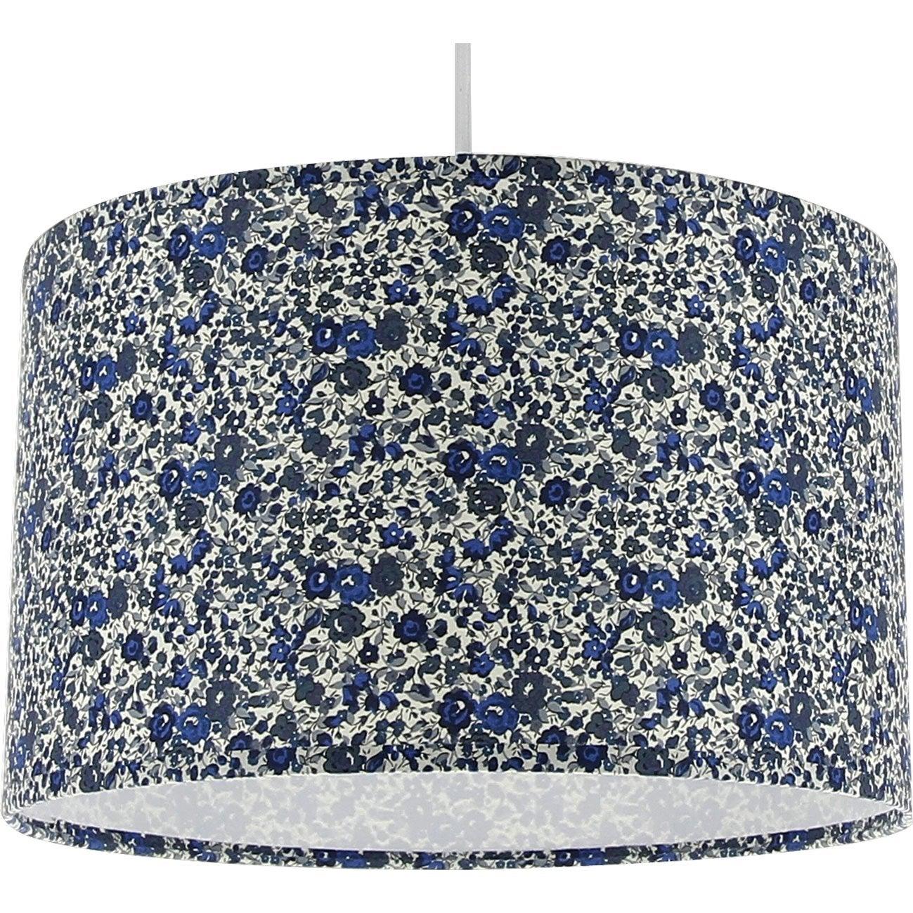 Suspension moderne natt tissus liberty bleu 1 x 60w w - Tissus mural leroy merlin ...