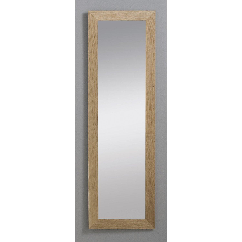 Miroir nakato inspire ch ne 30x120 cm leroy merlin for Miroir mural grand format